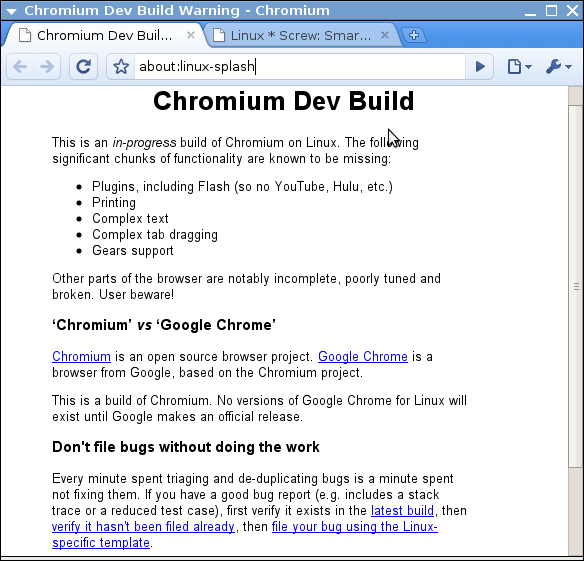 Ubuntu Chromium (google chrome for linux)